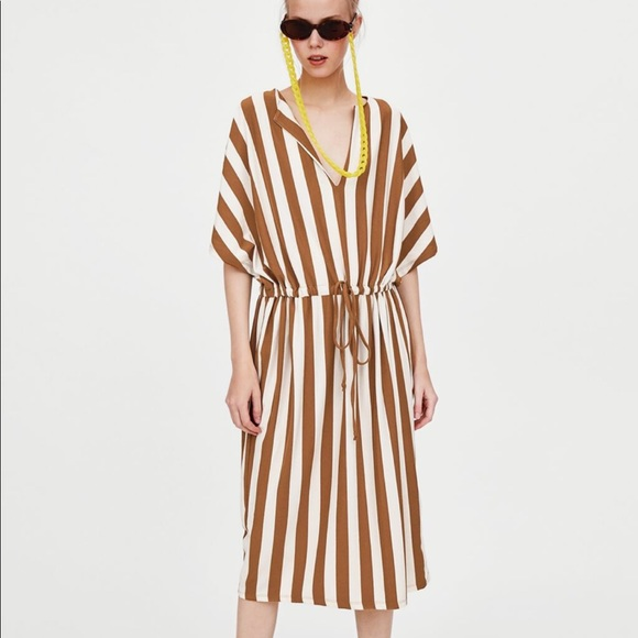 Zara Dresses & Skirts - Zara Cotton Striped Tunic Dress